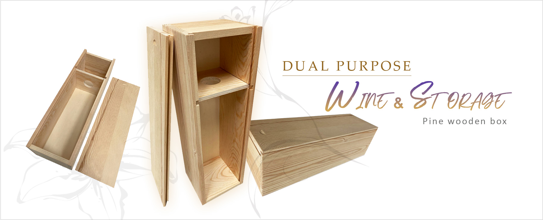 Dual Purpose Box For Wine And Storage