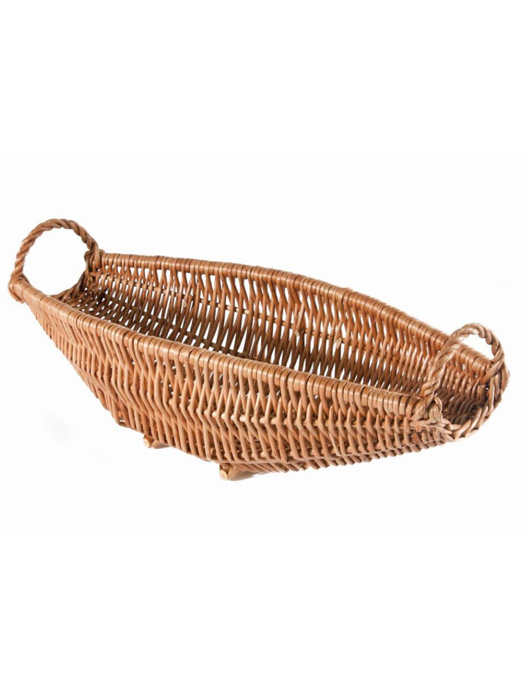 Wicker basket for single bottle of wine