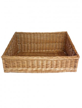 Wicker basket for display