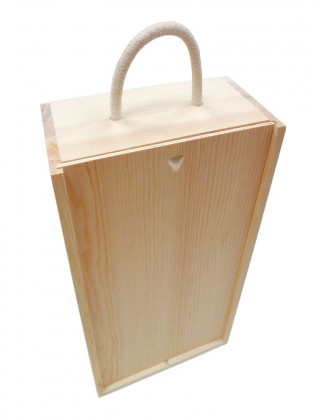 Double bottles wooden winebox