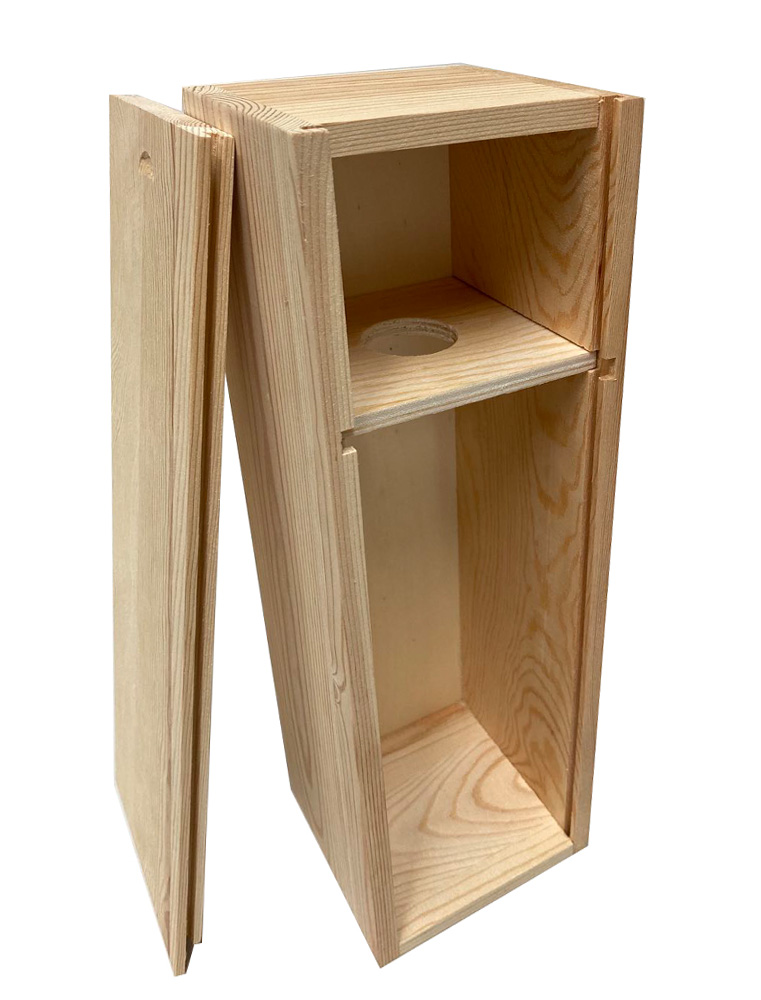 Dual purpose box for wine and storage